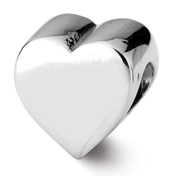 Sterling Silver Reflections Heart Shape Bead (4mm Diameter Hole)