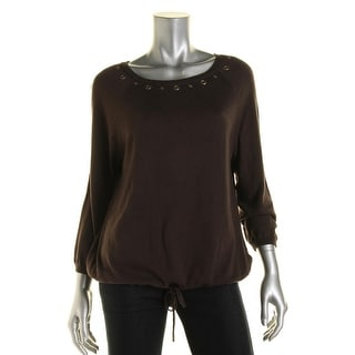 MICHAEL Michael Kors Womens Knit Grommet Pullover Top