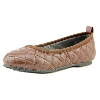 L'amour Suzy Toddler Round Toe Leather Ballet Flats