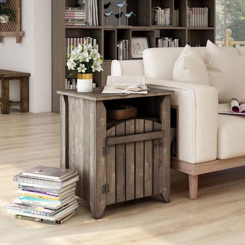 Carbon Loft Harland Rustic Oak 2-shelf End Table