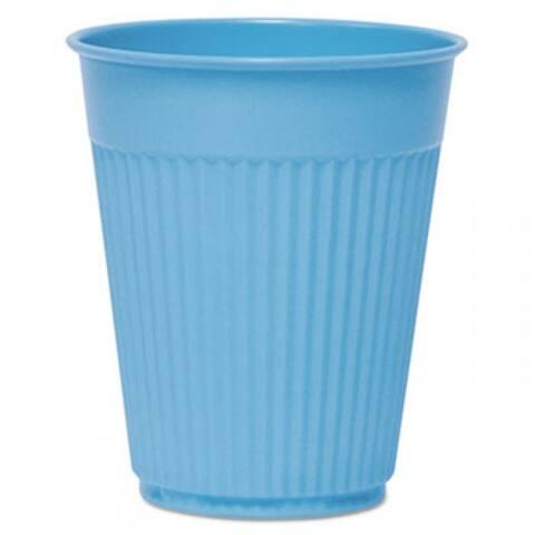 Plastic Medical & Dental Cups, Fluted, 5 Oz, Blue, 100/Bag, 25 Bags/Carton - Multi