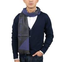 Versace VHB0125 004 Neat Pattern Purple 100% Wool Mens' Scarf - 14.5-72