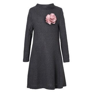 Richie House Girls' Medium Winter Dress with Flower