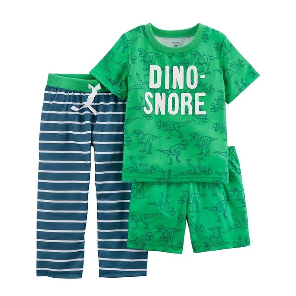 2cd28726e115 Shop Carter's Baby Boys' 3-Piece Poly PJs, Dino Snore, 12 Months - 12 Months  - Free Shipping On Orders Over $45 - Overstock.com - 26858317