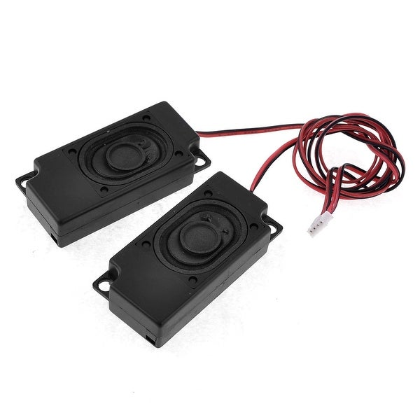 Unique Bargains 2W 8 Ohm Black Rectangle Magnetic Laptop Internal Speaker with Wire