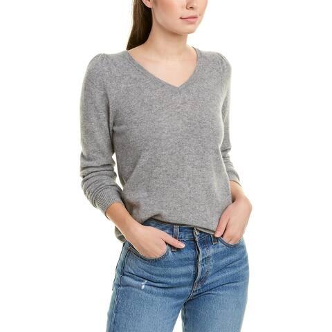 Terra Luxe Cashmere Sweater - HEATHER GREY