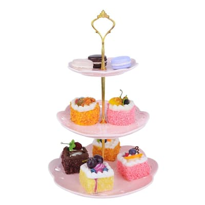 MALACASA Sweet Time 3-tier Cupcake Tower Stand