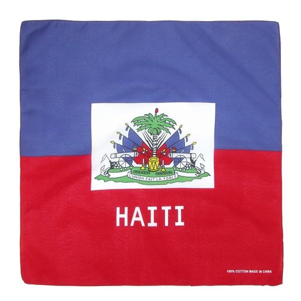 CTM® Cotton Haitian Flag Bandana