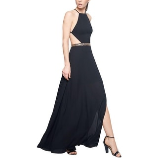 Fame And Partners Womens Formal Dress Backless Beaded