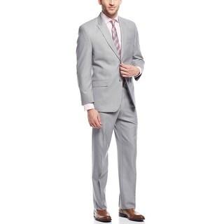 Sean John Silver Grey Solid Two Piece Suit 42 Long 42L Pants 36W