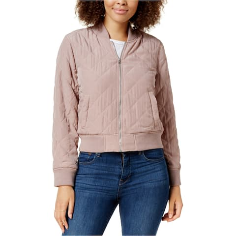 Lucky Brand Womens Quilted Bomber Jacket