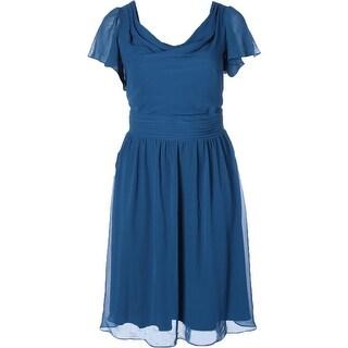 SL Fashions Womens Plus Cocktail Dress Chiffon Ruched - 20W