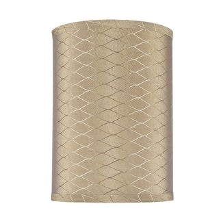 """Link to Aspen Creative Hardback Drum (Cylinder) Shape Spider Construction Lamp Shade in Light Brown (8"""" x 8"""" x 11"""") Similar Items in Lamp Shades"""