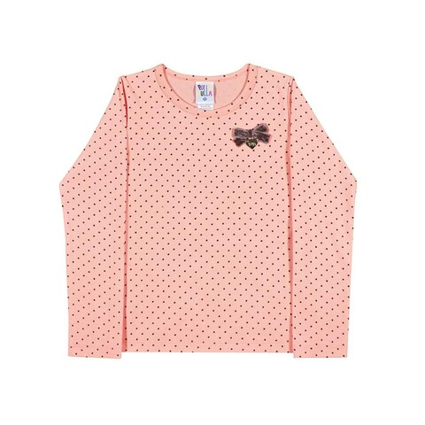 Girls Long Sleeve T-Shirt Polka Dot Tee Kids Pulla Bulla Sizes 2-10 Years