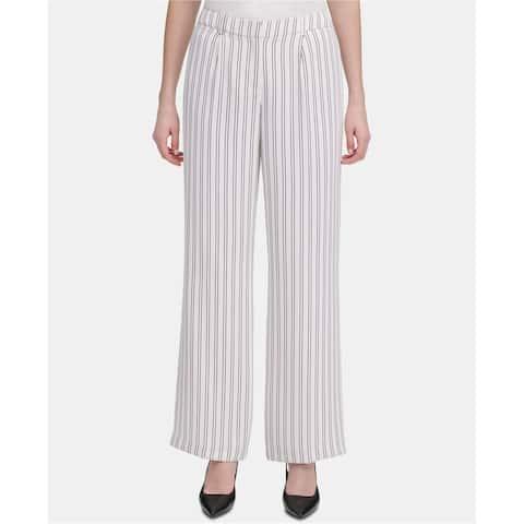 Calvin Klein Womens Double Stripe Dress Pants