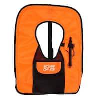 Scuba Choice Adult Orange Snorkel Vest With Front Pocket & Whistle