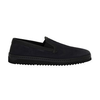 Dolce & Gabbana Dolce & Gabbana Blue Black Leather Loafers