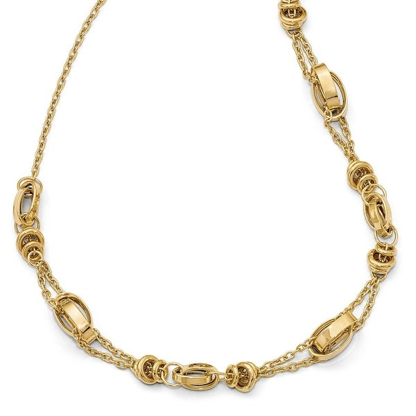 Italian 14k Gold with 1in ext. Necklace - 17 inches