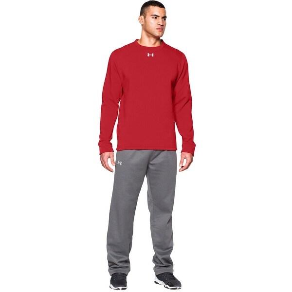 Under Armour UA Rival Loose Fit Fleece Team Crewneck Sweatshirt Red