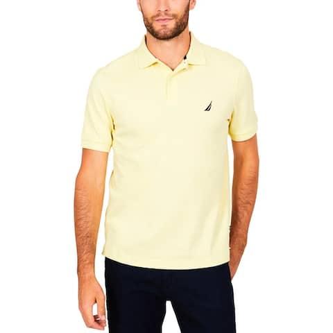 Nautica Mens Big & Tall Polo Shirt Woven Logo