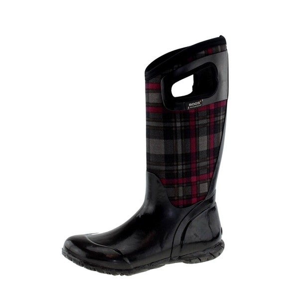 Bogs Boots Womens North Hampton Plaid Waterproof Rubber