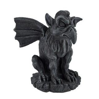 Hippogriff Gargoyle Stone Finish Statue - Black