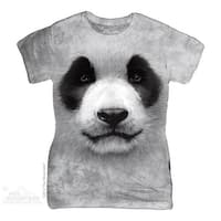 The Mountain Cotton Big Face Panda Design Novelty Womens T-Shirt