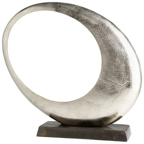 Cyan Design 08898 Clearly Through Aluminum Abstract Statue