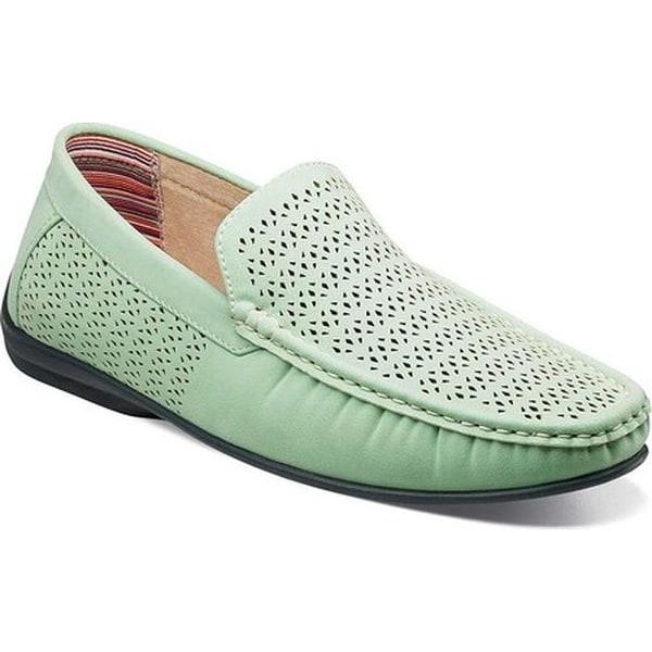 39c131c583b Shop Stacy Adams Men s Cicero Perfed Moc Toe Loafer 25172 Light Aqua  Polyurethane - Free Shipping Today - Overstock - 27188006