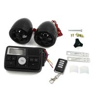 Anti-Theft Motorcycle Skull Design Audio Stereo Speaker Remote System Black
