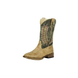 Roper Western Boots Boys Square Toe Brown 09-119-1900-0077 TA