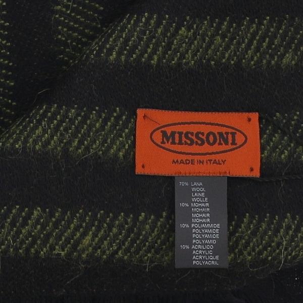 Missoni SC12WMU5078 0004 Green//Brown Wool Blend  Scarf