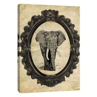 "PTM Images 9-105864  PTM Canvas Collection 10"" x 8"" - ""Framed Elephant"" Giclee Elephants Art Print on Canvas"