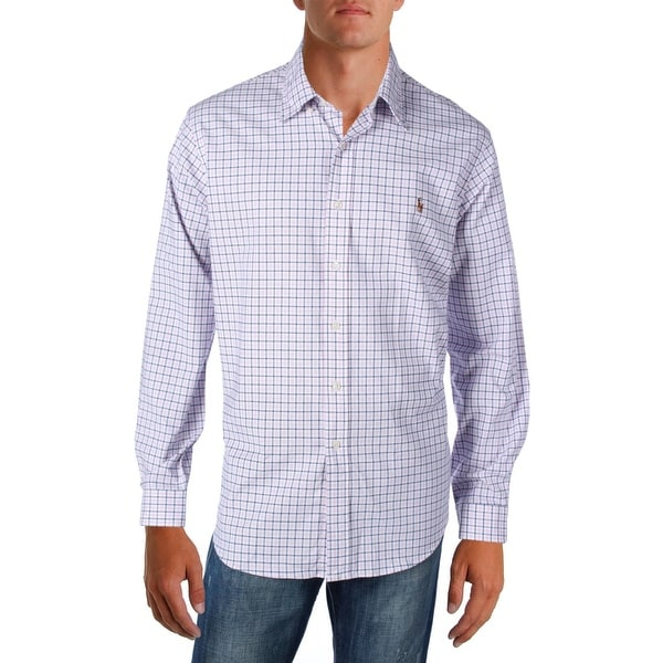 88064d58 Shop Polo Ralph Lauren Mens Button-Down Shirt Slim Fit Plaid - XL - Free  Shipping Today - Overstock - 22366815