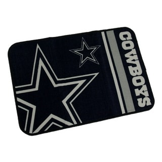 Dallas Cowboys 20 By 30 Inch Tufted Non-Skid Officially Licensed Bath Rug - navy