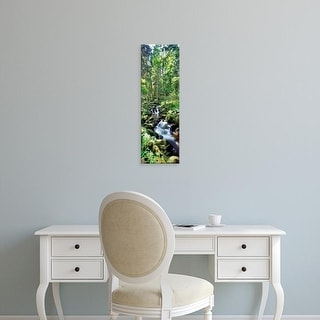 Easy Art Prints Panoramic Images's 'Stream flowing through a forest, USA' Premium Canvas Art