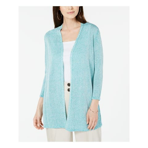 ALFANI Womens Turquoise Long Sleeve Open Cardigan Sweater Size XXL