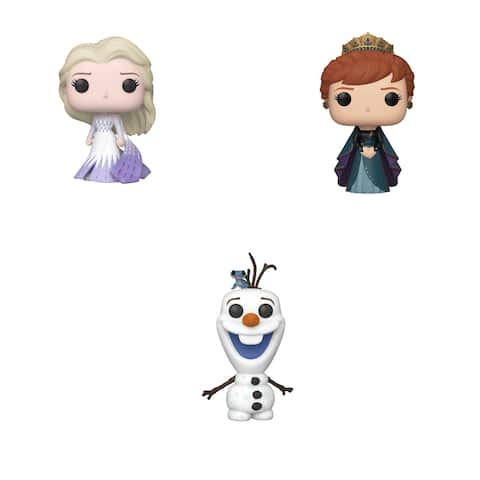 Funko POP! Disney Frozen 2 Collectors Set 2 - Elsa in Epilogue Dress, Anna in Epilogue Dress, Olaf with Fire Salamander