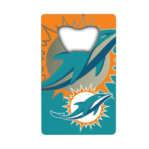 NFL - Miami Dolphins Metal Credit Card Bottle Opener - 2in. X 3.25in.