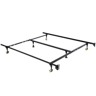 Costway Metal Bed Frame Adjustable Queen Full Twin Size w/ Center Support