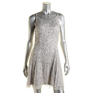 Aidan Mattox Womens Sleeveless Party Cocktail Dress