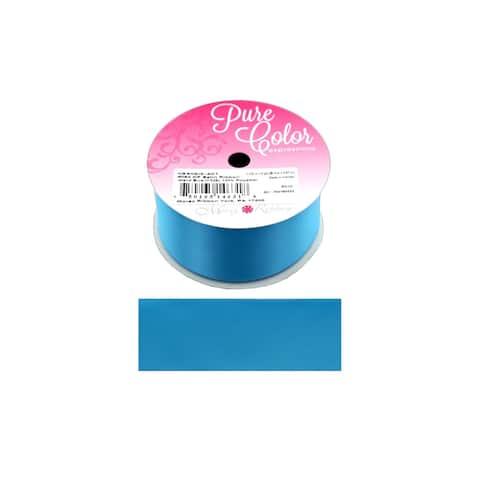 """Morex Ribbon DF Satin 1.5""""x 5yd Island Blue"""