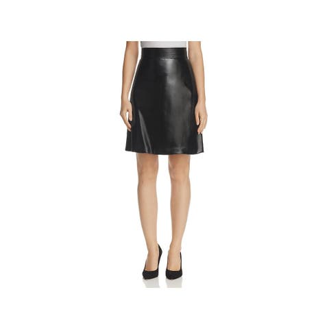 Theory Womens Mini Skirt Faux Leather High Waist