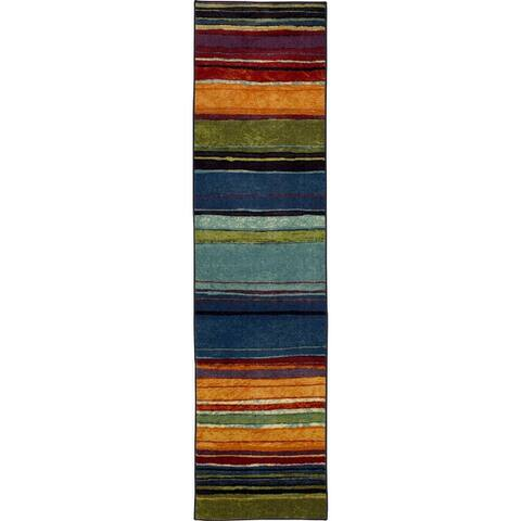 The Curated Nomad Sultan Multicolor Boho Stripe Area Rug