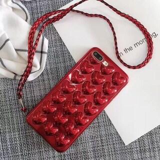 Unique Cute 3D Heart Shape Iphone 6 6s Plus & 7 7 Plus Cover Case