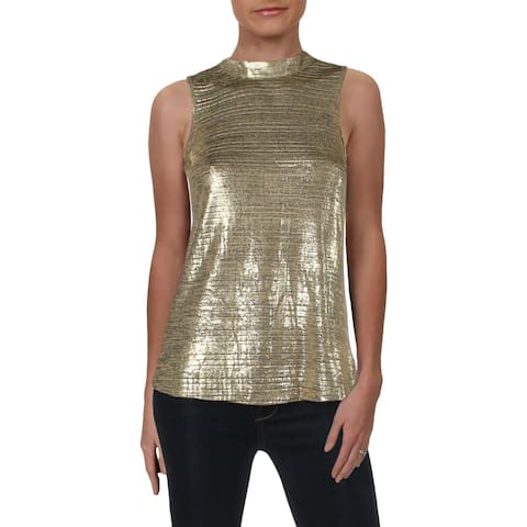 Julie Brown Womens Petites Pullover Top Shimmer Sleeveless - P