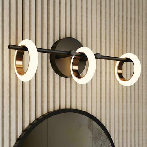 Glow's Avenue 3-light Bathroom Loop Ring Vanity Light