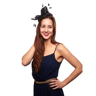 Dazzling Darling Sinamay Fascinator Cocktail Hat with Jewel Accent