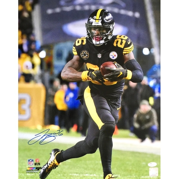 Le'Veon Bell Signed 16x20 Pittsburgh Steelers Color Rush Jersey Photo JSA