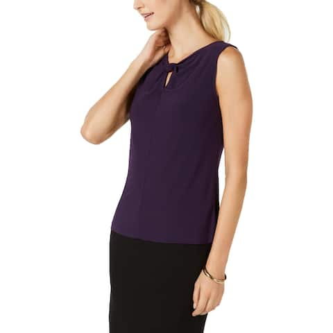 Nine West Womens Pullover Top Sleeveless Keyhole Neck
